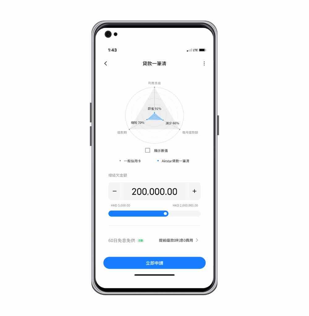 天星銀行airstar貸款一筆清新增「智能化分析」功能  按客戶還款能力建議慳息方案
