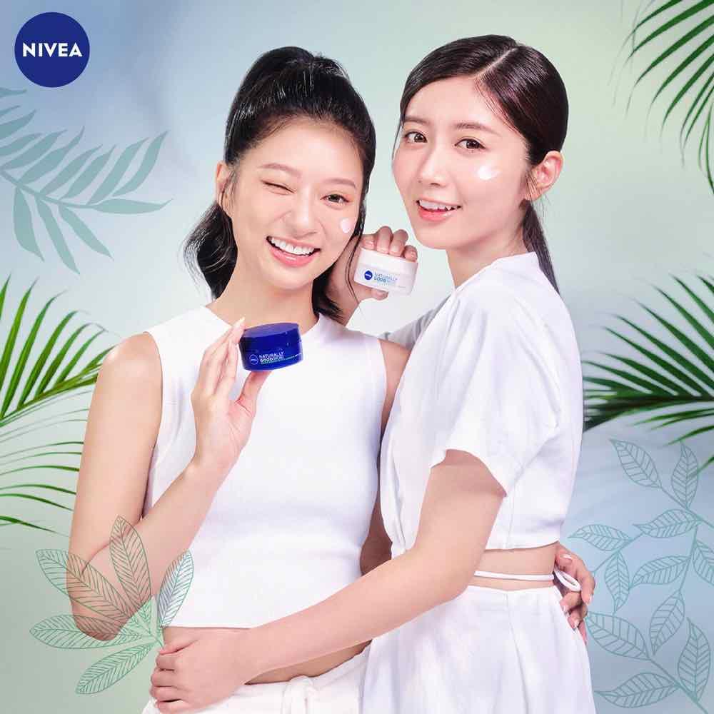 Nivea Naturally Good Kayan Left Jessica Right